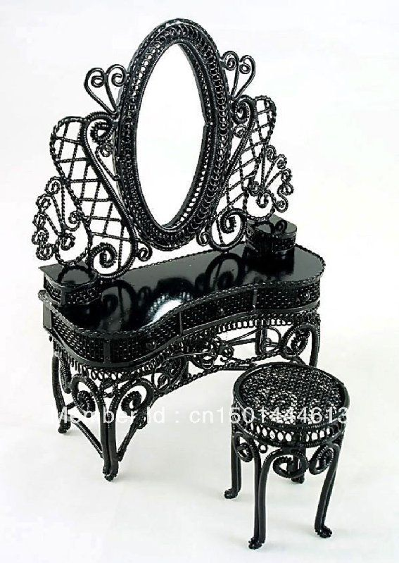 Black Wire Vanity Set Great Gatsby Meets Morticia Addams Love It