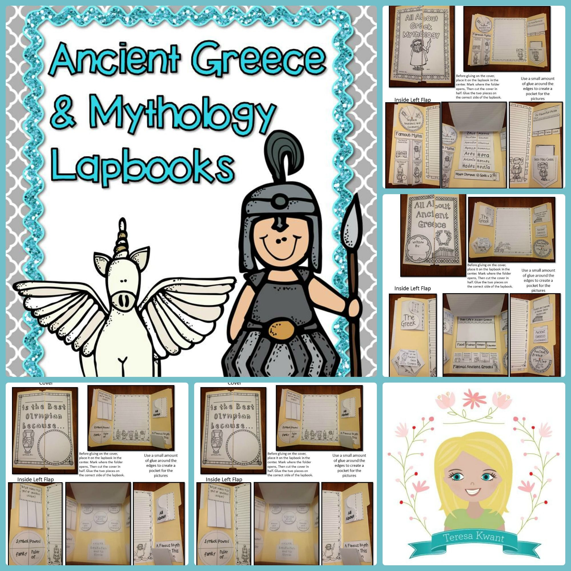Ancient Greece And Greek Mythology Lapbooks