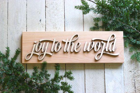 Joy To The World  Modern Christmas Holiday door RichwoodCreations
