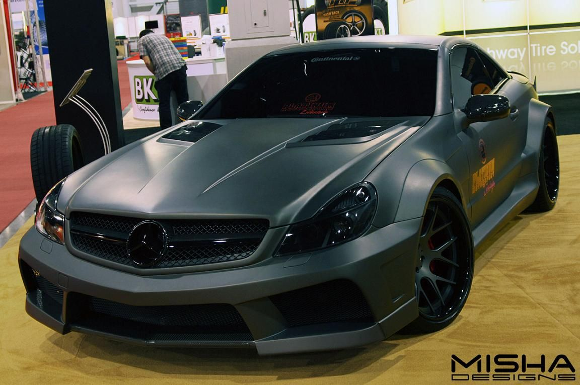 Mercedes-SL-body-kit-wide-matte-grey-Platinum-2