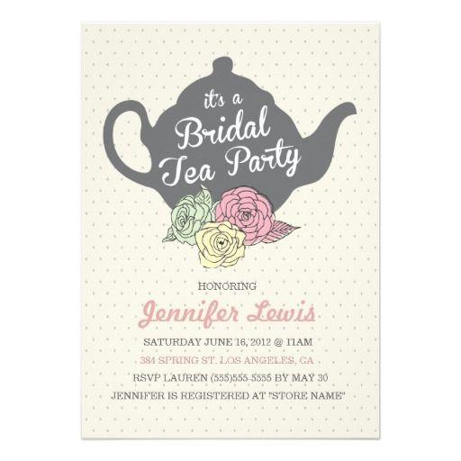 Bridal Tea Party Invite Zazzle Com Tea Party Bridal Shower Invitations Bridal Tea Party Invitations Tea Bridal Shower Invitations