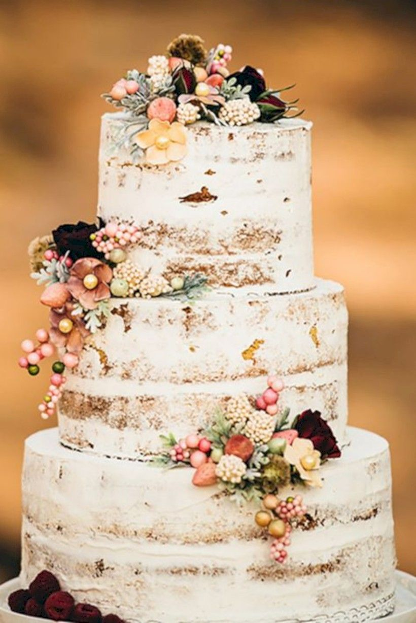 65 Simple Rustic Winter Wedding Cake Ideas Country Wedding Cakes