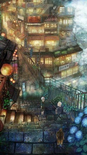 300枚超 風景 ファンタジックで綺麗な二次イラストまとめ 高画質保存版 Naver まとめ Anime Scenery Fantasy Landscape Animation Art