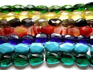 Jade Chalcedony Glass Quartz 6x12mm 12x25mm Faceted Long Teardrop Beads