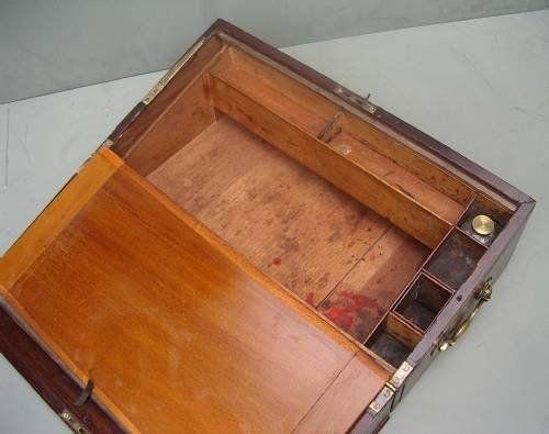 Georgian Mahogany Writing Slope C1820 | 40772 | Sellingantiques.co.uk