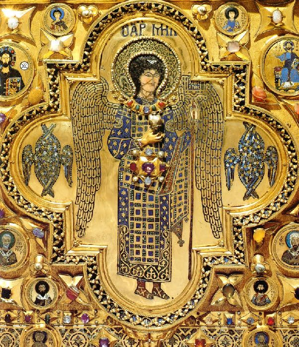 The archangel michael detail from the pala d oro in for Pala de oro