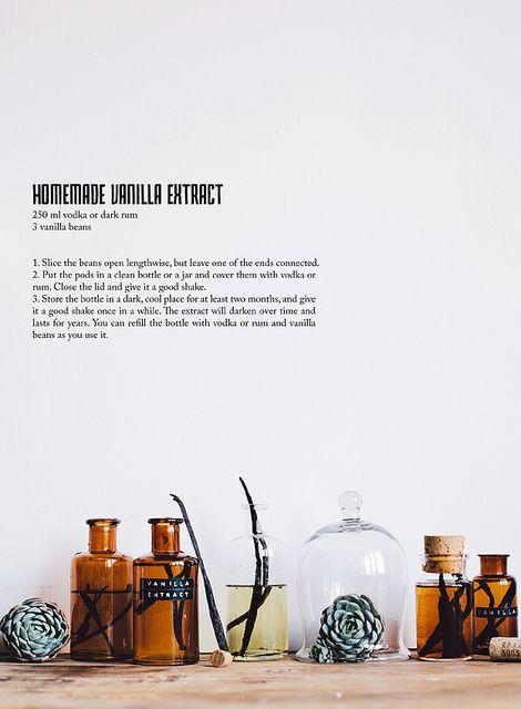 Homemade vanilla extract  http://www.callmecupcake.se