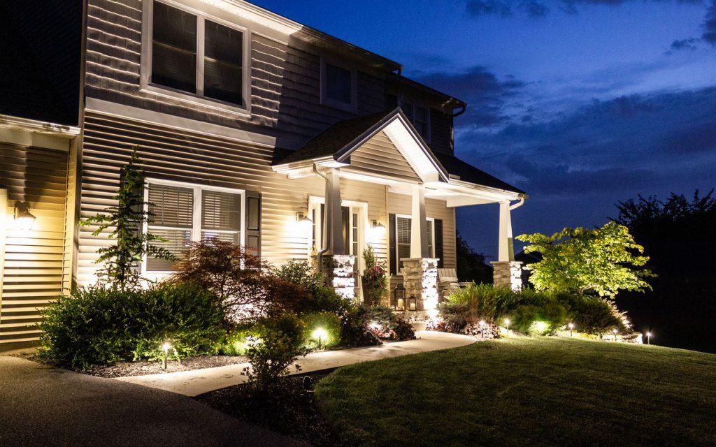 How To Install Landscape Lighting Hamilton Park Home Landscape Lighting Low Voltage Outdoor Lighting Led Landscape Lighting