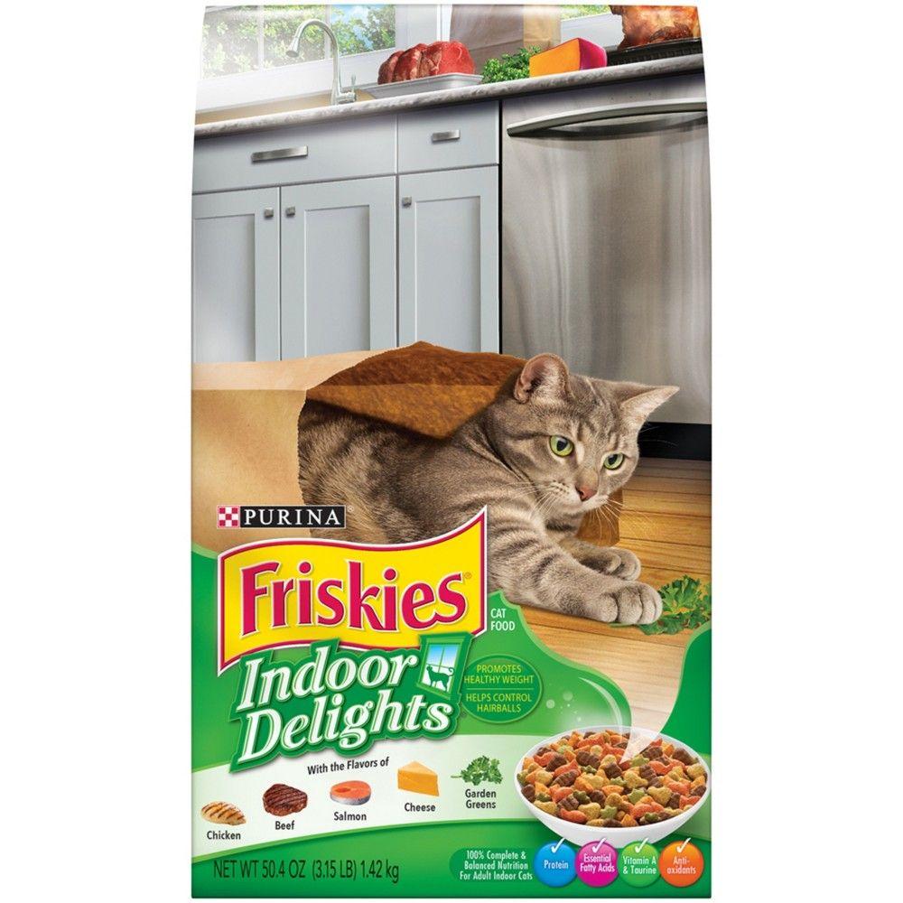 Purina Friskies Indoor Delights Dry Cat Food 3 15lb Bag Purina Friskies Friskies Cat Food Brands