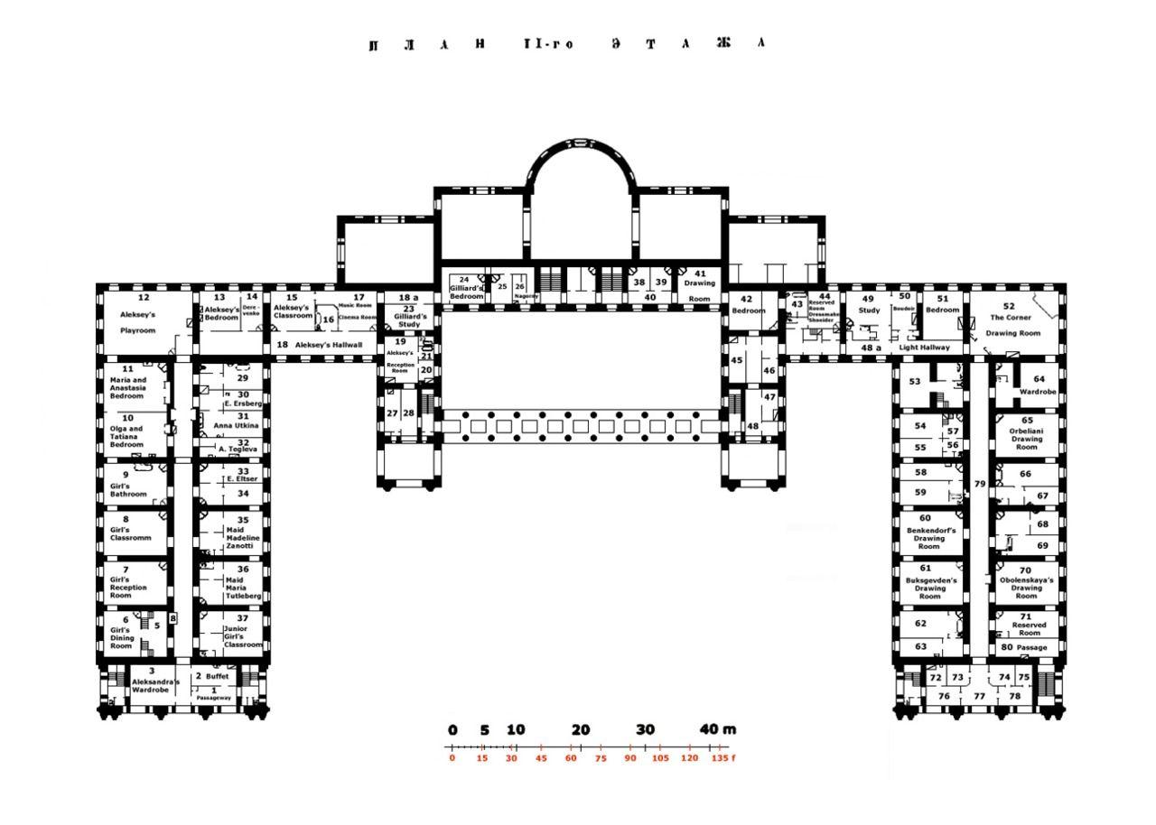 Alexander Palace Floor Plans Architectural Floor Plans Palace