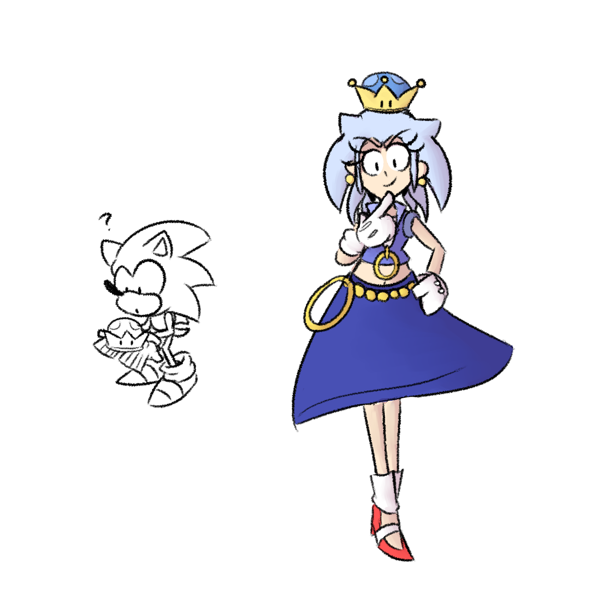 Sonic Ends Up Finding A Strange Crown Peachette Super Crown Sonic Game Character Super Smash Bros