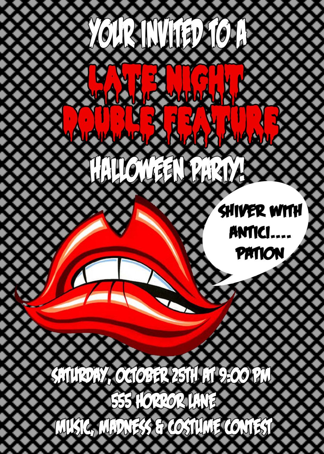 Rocky horror picture show Halloween invitations | Holidays ...
