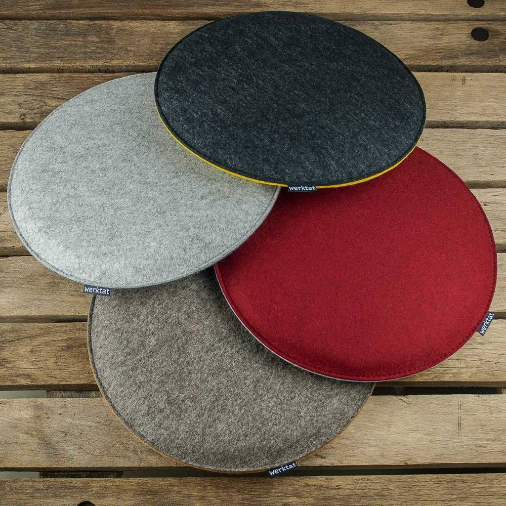 Felt Seat Cushions Padded Round Chair Cushions Bench Cousions Stuffed Upholstered 30cm 32 5cm 35cm 37 5cm 40cm Felt Cushion Chair Cushions Round Chair Cushions