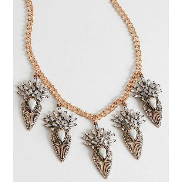 BKE Statement Necklace ($23) ❤ liked on Polyvore featuring jewelry, necklaces, gold, bib statement necklace, bke necklace, rhinestone jewelry, rhinestone pendant necklace and rhinestone necklace