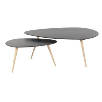 Fly 170 Set De 2 Tables Gigognes Gris Table Basse