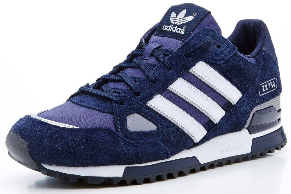 8cfd83c88e55 Mens Adidas Originals ZX 750 Navy Suede Running Shoes UK 7 8 8.5 9 9.5 10 11  12 !! ONLY £49.95 FREE United Kingdom POSTAGE !!