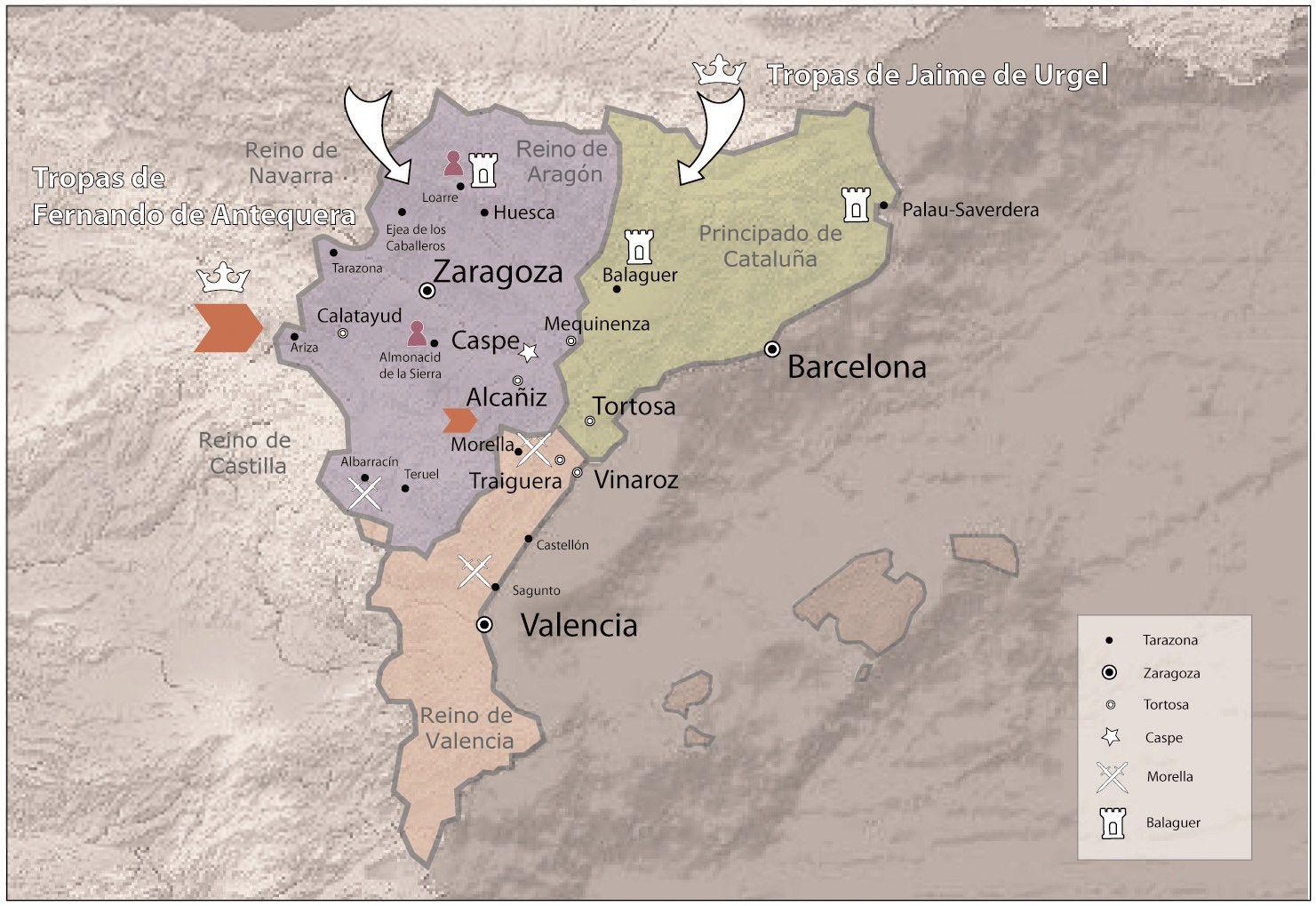 Mapa Histórico Mapa Historico Historia De España Aragón
