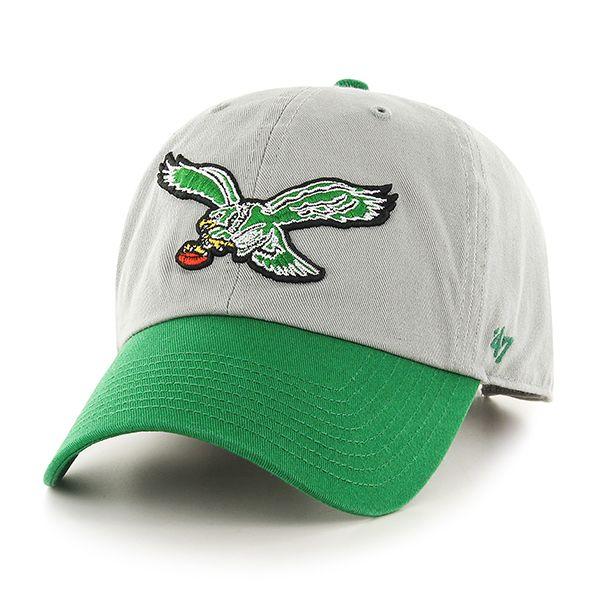 faa716fce30 Philadelphia Eagles Clean Up Two-Tone Gray 47 Brand Adjustable Hat ...