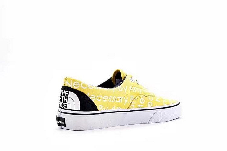 63b814fd3c Vans Supreme TNF Motion Logo Era Classic Lemon True White Womens Shoes  Vans