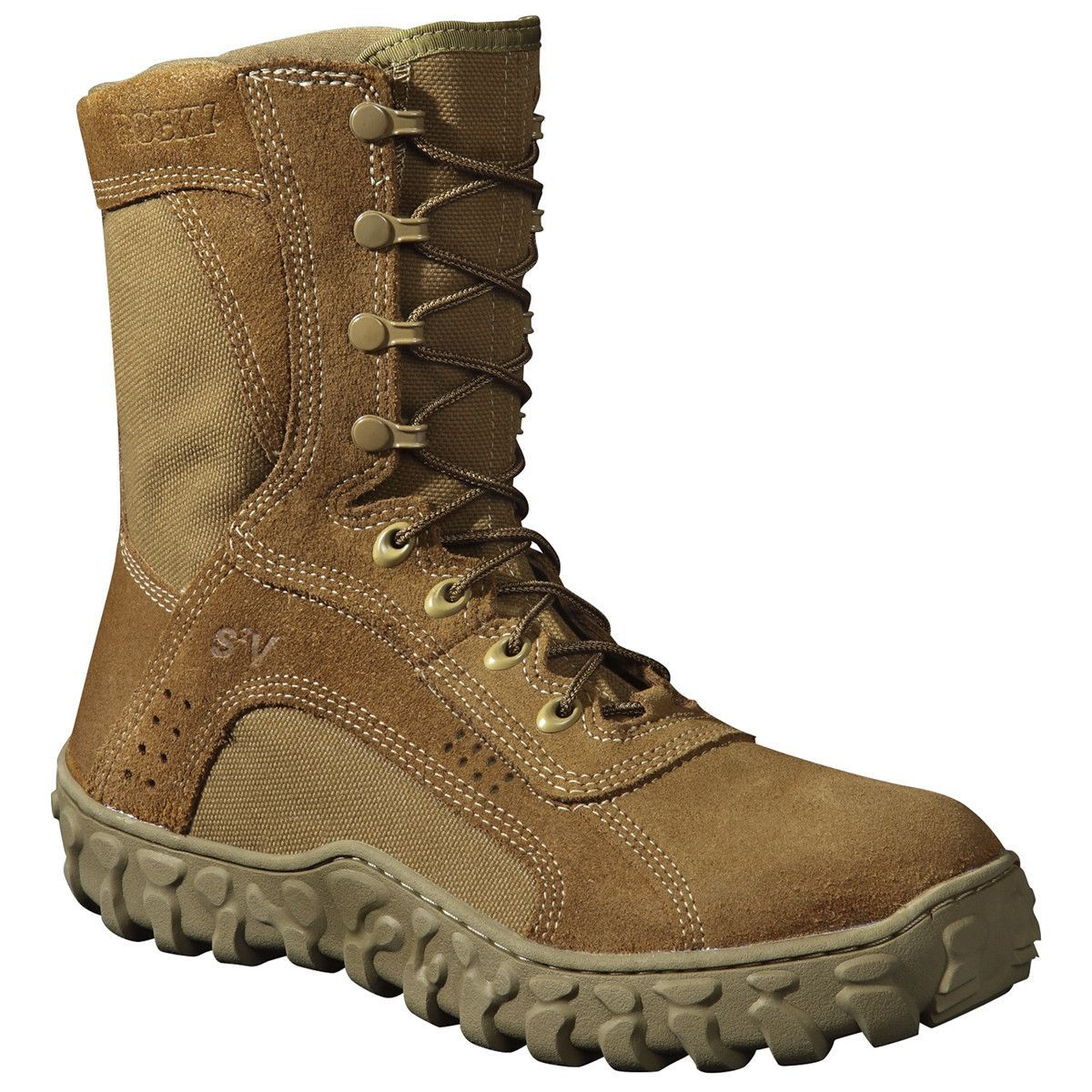 Rocky S2v Mens Coyote Brown Leather Steel Toe Tactical Military Boots Tactical Boots Duty Boots Boots