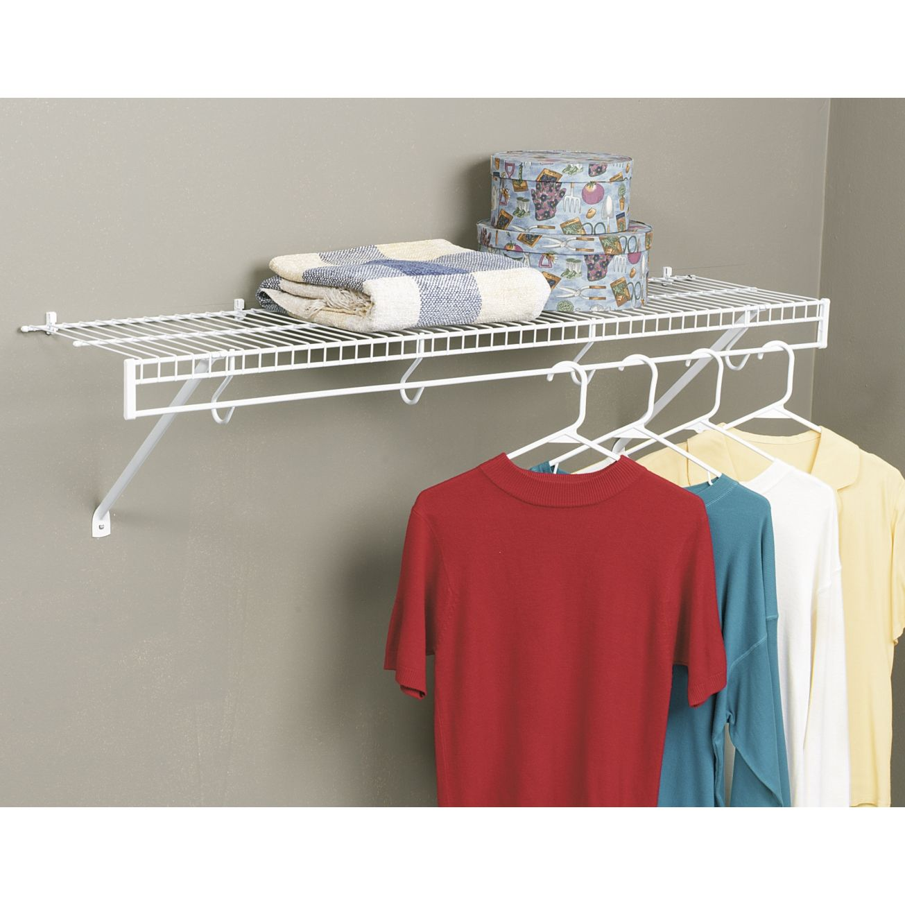 Organizational Hardware Rubbermaid Free Slide Shelf Kit 3d4800wht Wall Shelf Kits Diy Clothes Rack Wall Mounted Wire Shelving Wooden Clothes Drying Rack