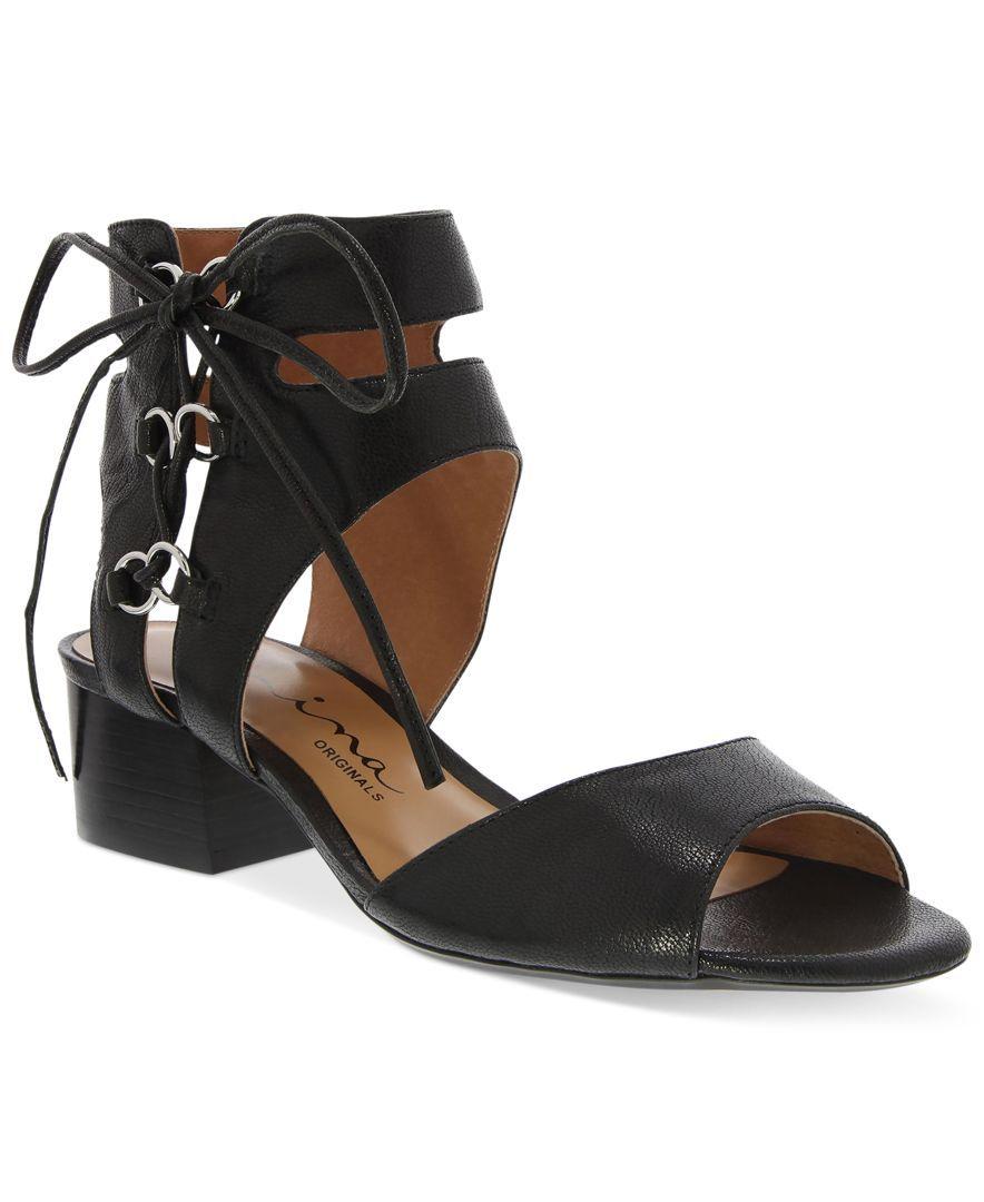Nina Originals Vanessa Open-Toe Lace-Up Sandals