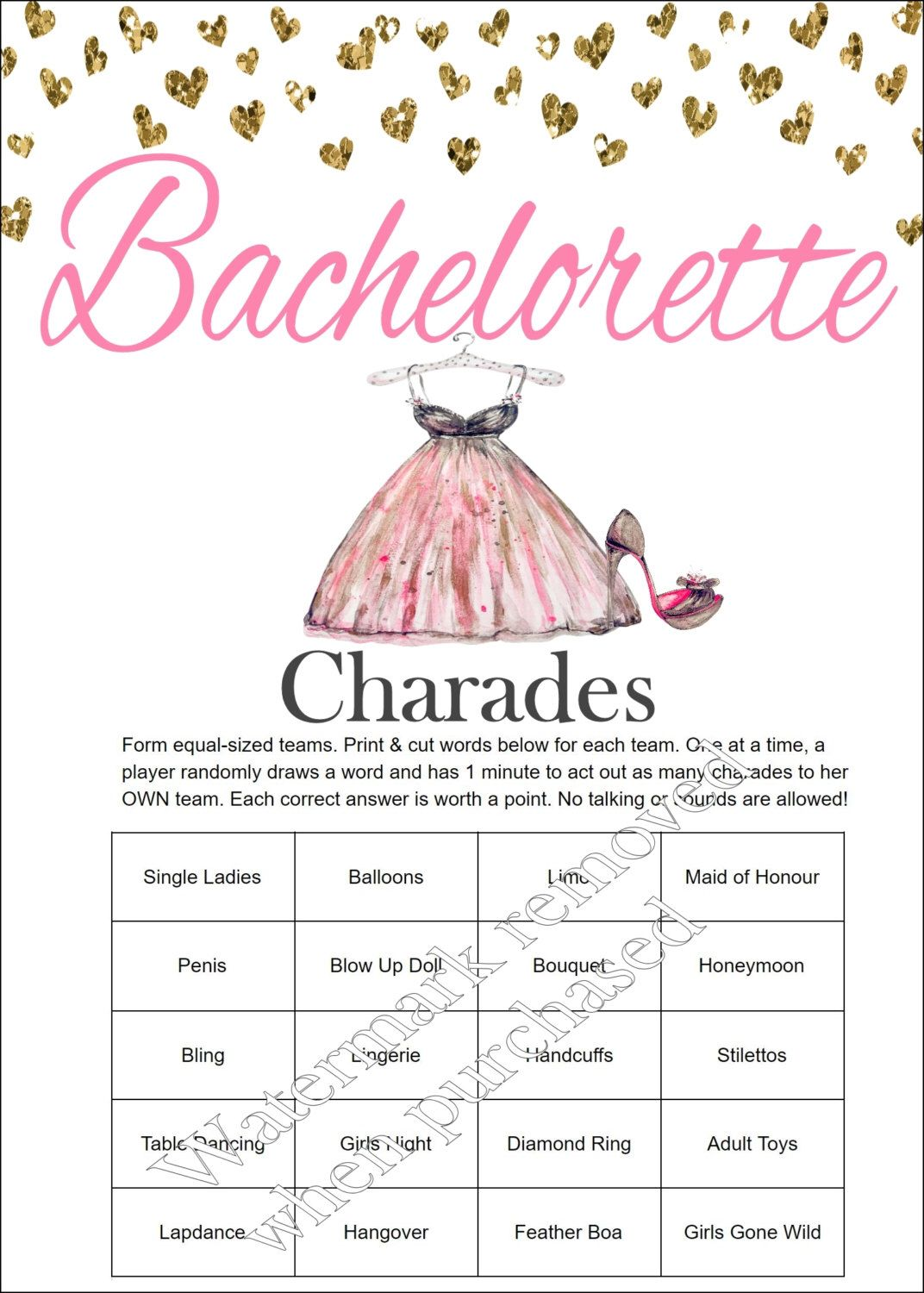 This is a picture of Fabulous Printable Bachelorette Games
