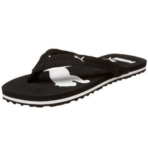 PUMA Women's Basic Flip Flop Sandal,Black/White,6.5 B Puma. $23.00 ...
