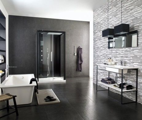 petra de dijon antracite | ceramico tegels, parket en natuursteen, Badkamer
