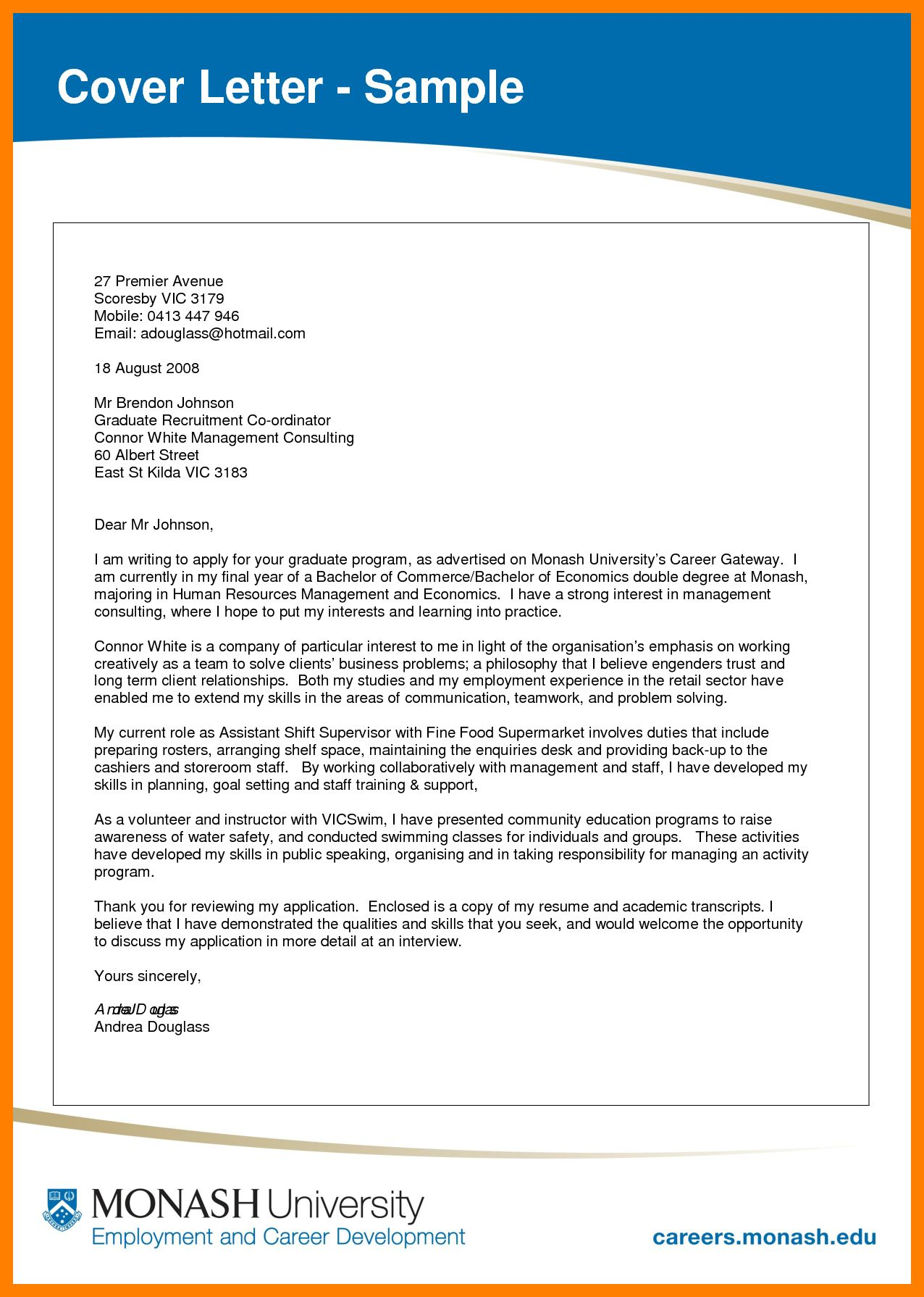 26 Cover Letter Sample Pdf 11 Todd Cerney