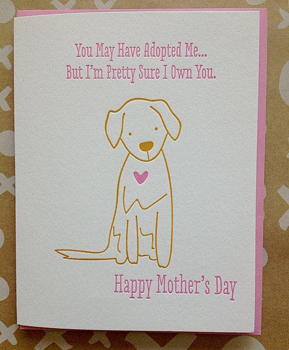 Mother S Day Card From Dog