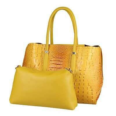 Photo of ❤️ITALYSHOP24.COM❤️ DAMEN TASCHE KROKO Shopper Business Schultertasche A…