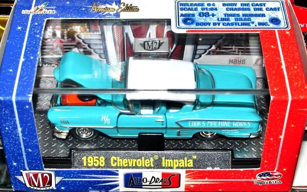 1958 Chevrolet Impala M2 Machines AUTODRAGS Series 164