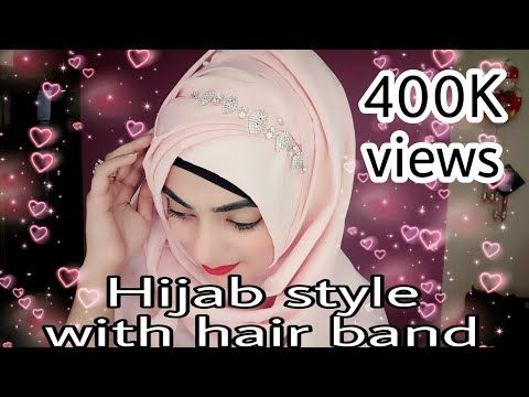 Photo of Hijab Style with Hair Band, Accessories Ft. Dubai Abhaya store