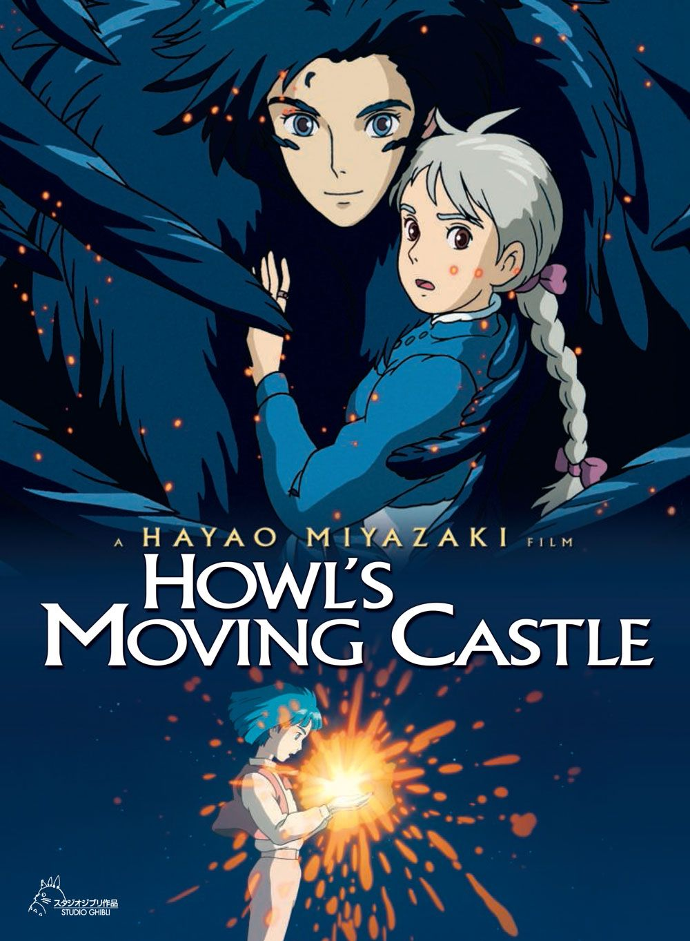 En los fines de semana, a mi me gusta ver pelícuas. Mi película favorita es Howl's Moving Castle.