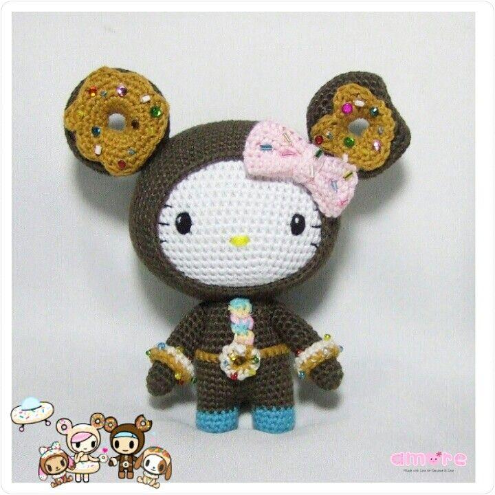 Amigurumi Hello kitty dress as Tokidoki Ciambello | kitty ...