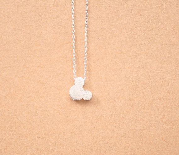 Tiny Mickey Mouse Inspired necklace Mickey Mouse by DoubleBJewelry