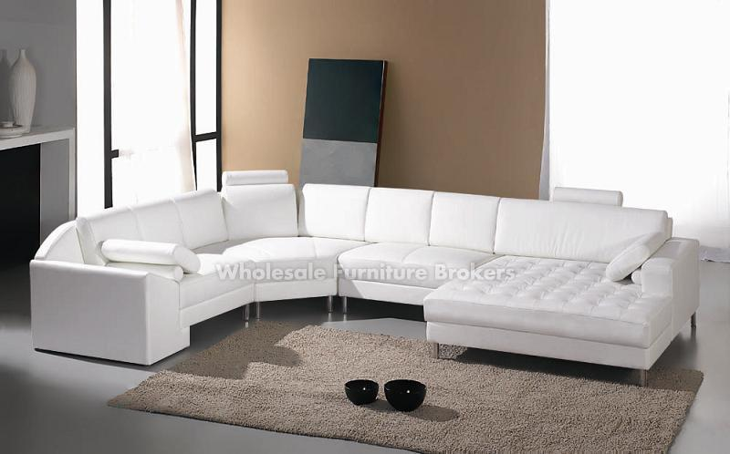 monaco white leather sectional sofa by true contemporary - White Leather Sofa