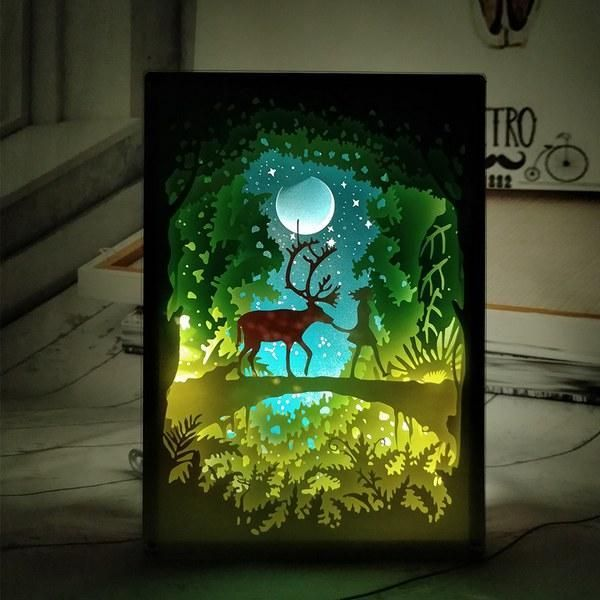 Photo of PaperCut Light Shadow Box – Paper Diy