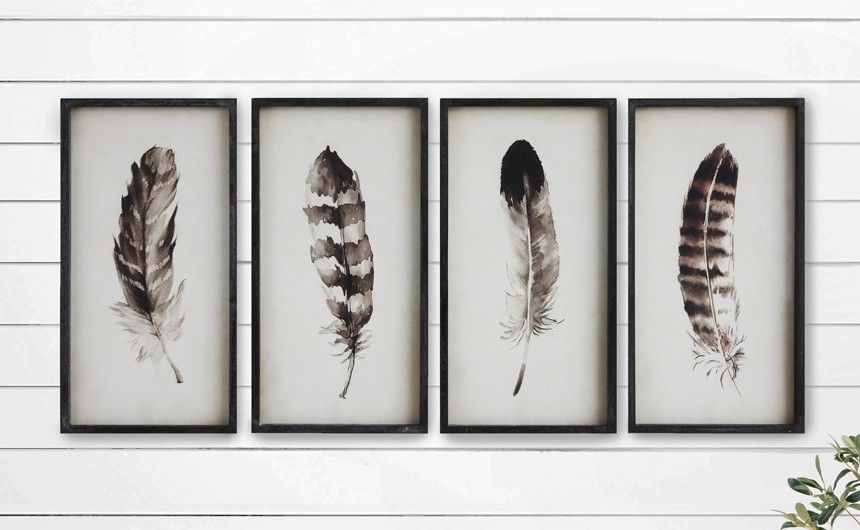 Feather Art Wall Art Wall Decor Feather Portrait Feather Pictures Feather Canvas Framed Feather Portrait Feather Wall Art Feather Wall Decor Feather Wall