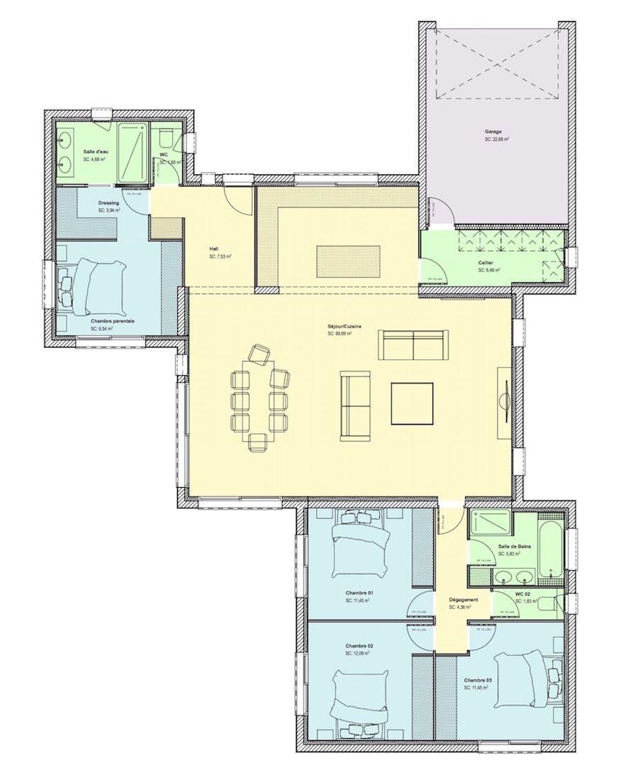 maison biscornue site web copie - Plan Architecturale De Maison