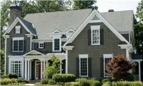 Best Dark Green Siding Darker Shutters Light Gray Roof White 400 x 300
