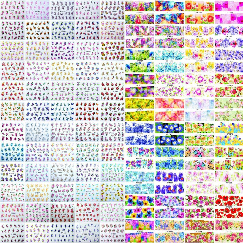 600 Designs Watermark Flower Leopard Animal Etc Stickers Nail Art ...