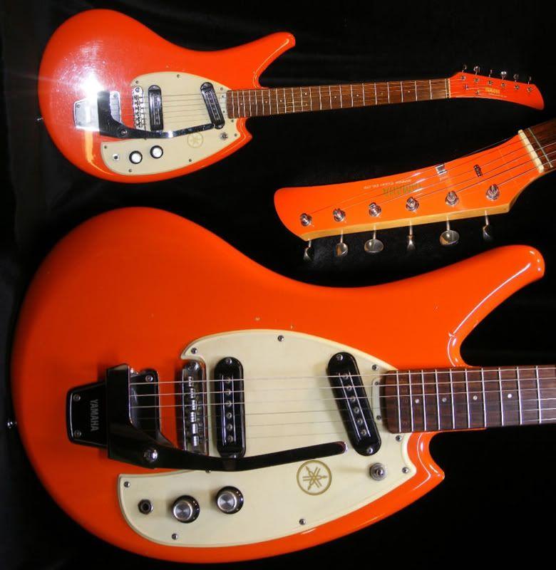 guitar blog 1968 yamaha sgc2 in day glo orange guitar pickin 39 yamaha guitar guitar bass. Black Bedroom Furniture Sets. Home Design Ideas