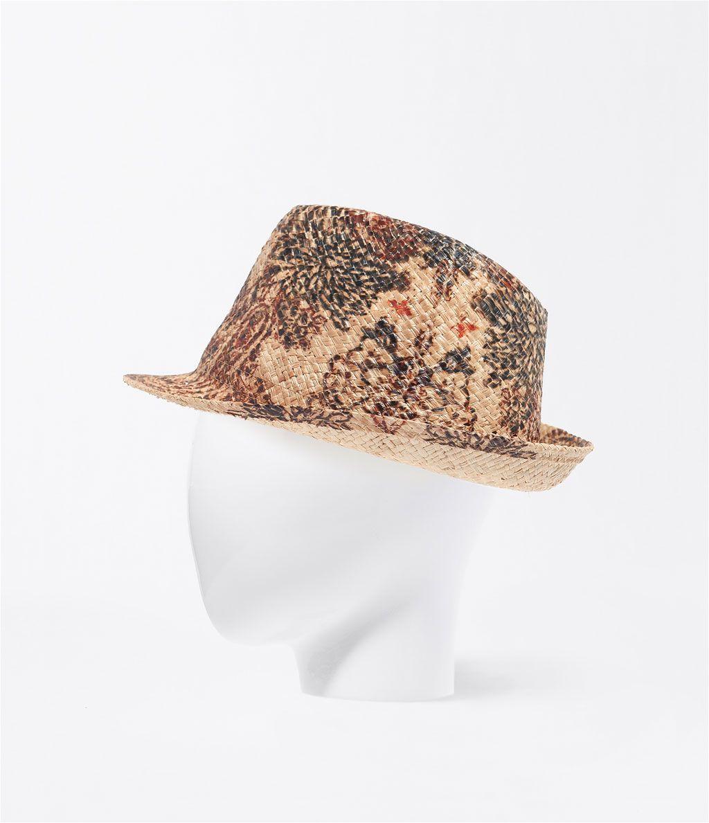 375c458cf742c  estampado  tostado  sombrero  playa  · ZARA · 15