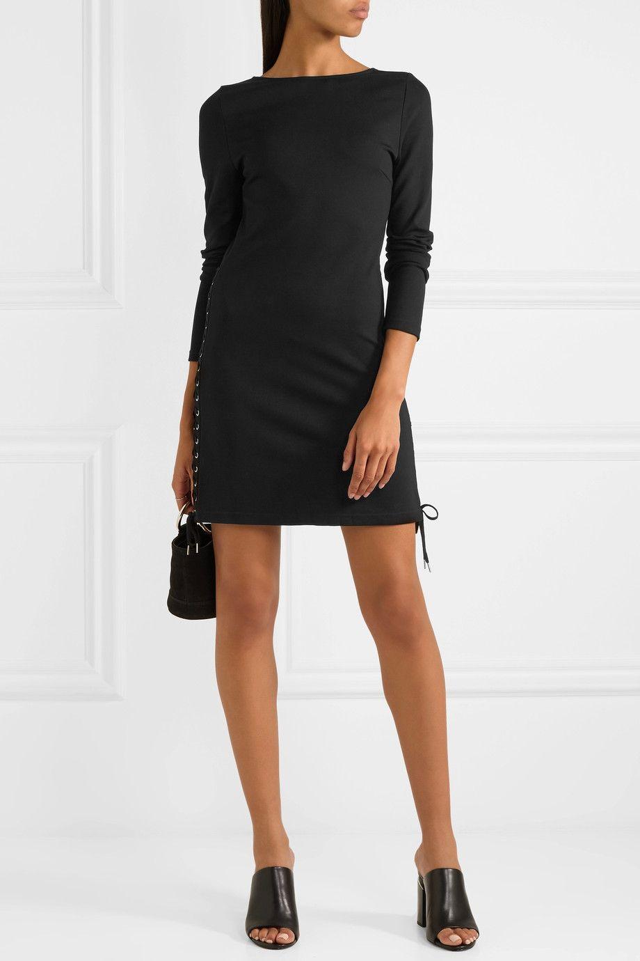 41eacf82b7068 McQ Alexander McQueen | Lace-up jersey mini dress | NET-A-PORTER.COM ...