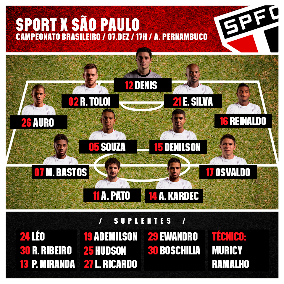 16 Campeonato Brasileiro Sport x São Paulo 07.12.2014