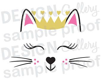 Unicorn Princess Jpg Png Svg Dxf Cut File Printable