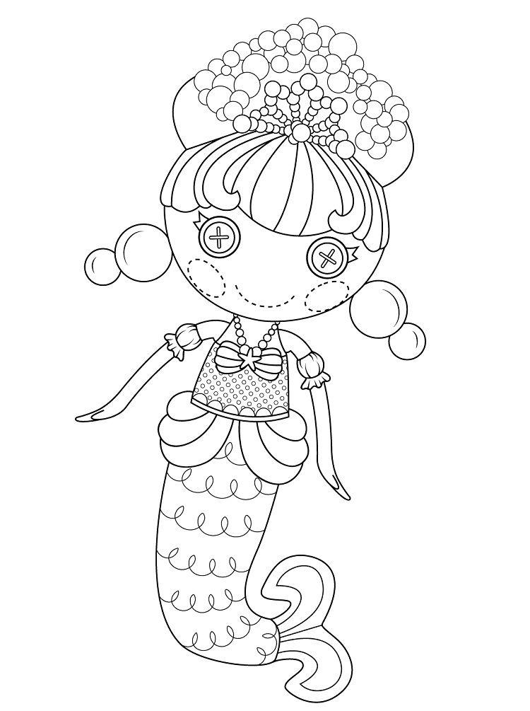 Lalaloopsy Mermaid Coloring Pages Mermaid Coloring Pages Bear Coloring Pages Disney Coloring Pages
