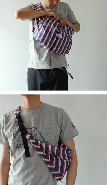 WEAR DIFFERENT: THE NORTH FACE PURPLE LABEL TRICOLOUR Wrap Bag